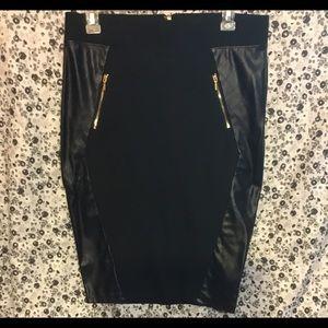 Bebe Bodycon Midi Pencil Skirt